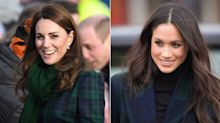 Die Herzoginnen Kate und Meghan zeigen den neuesten Tartan-Trend