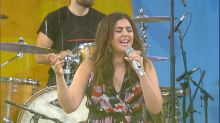 Lady Antebellum wows the Central Park crowd with their hit 'Need You Now'