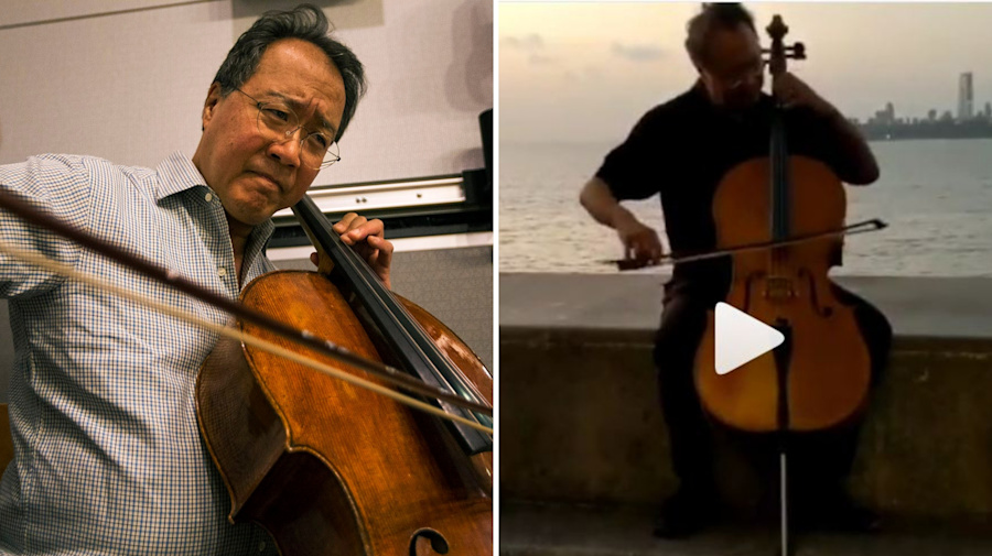 Yo-Yo Ma Treats Mumbaikars to an Impromptu Gig on Marine Drive