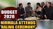 Budget 2020: FM Nirmala Sitharaman attends 'Halwa ceremony' at Finance ministry