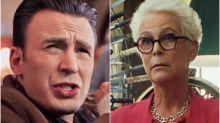 Chris Evans' movie mom Jamie Lee Curtis had an awkward response to his nude photo leak