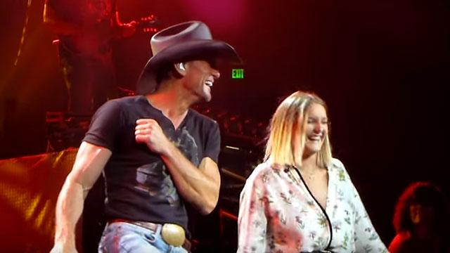 Tim mcgraw performs sweet duet with 18 year old daughter for How old are faith hill s daughters