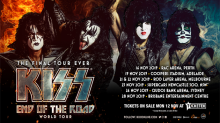KISS are bringing their final ever tour to Australia