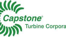 Capstone Turbine (NASDAQ:CPST) Continues Success in European Cogeneration Market With Orders for Nine C65 Microturbines