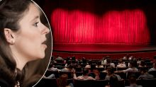 Outrage after woman defends singing along during show