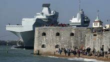 Epic pictures show HMS Queen Elizabeth setting sail from naval base in Portsmouth