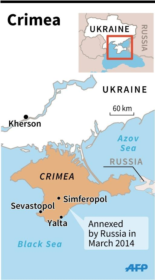 The Crimean peninsula was annexed by Russia in March 2014 (AFP Photo/)