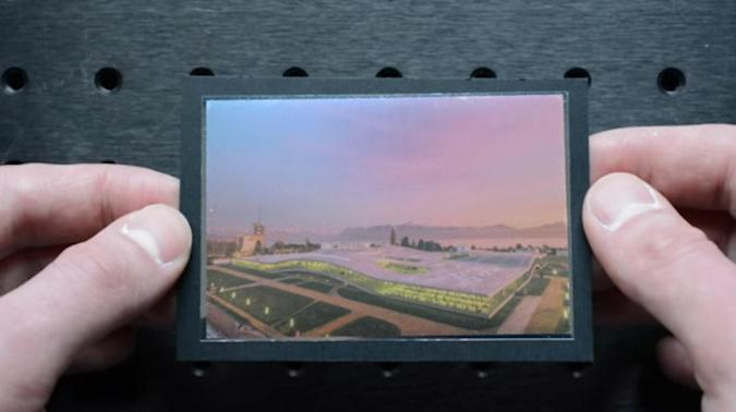 EPFL's printing technique hides one image behind the other