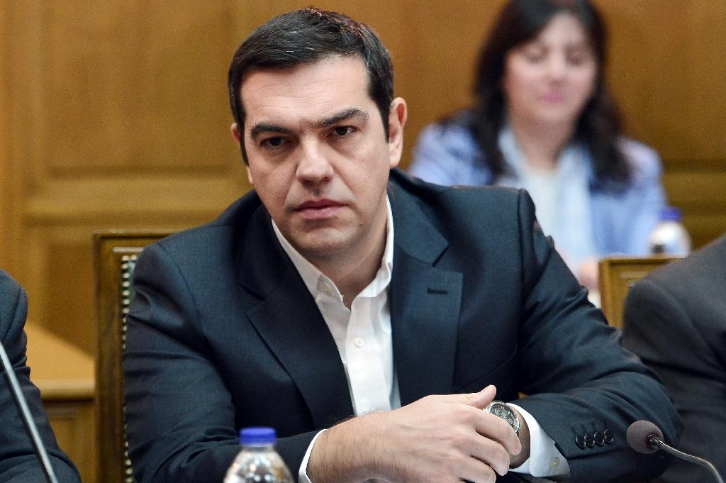 Greek Prime Minister Alexis Tsipras attends a cabinet meeting on November 10, 2015 (AFP Photo/Louisa Gouliamaki )