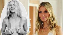 Gwyneth Paltrow (47) posiert nur mit Hosenträgern