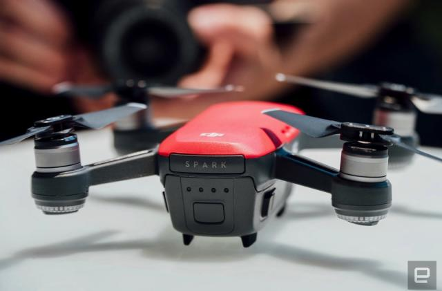 DJI's Spark drone starts recording when you raise your arm