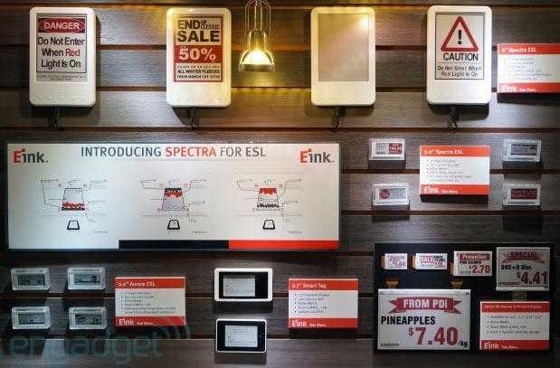 E Ink's three-pigment Spectra displays update pricing in real time, are destined for supermarket shelves (hands-on)