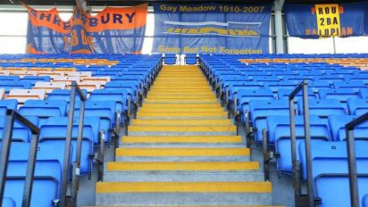 Shrewsbury become first English club to apply for safe standing section