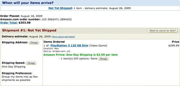 PS3 Slim shipping on August 26th, says Amazon