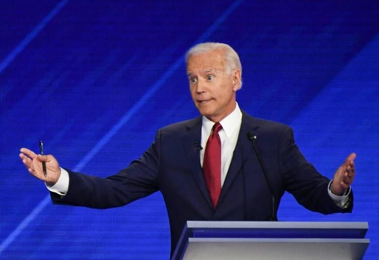 Joe Biden is battling accusations that he is a gaffe-prone candidate past his prime (AFP Photo/Robyn BECK)