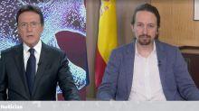 Matías Prats, 'trending topic' por lo que ha hecho durante esta entrevista a Pablo Iglesias