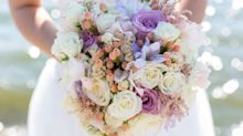 Shameless bride steals flowers for her wedding