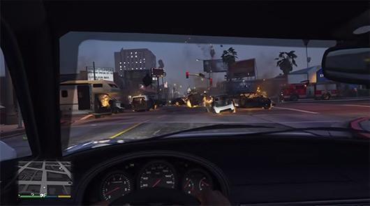 When AI goes mad: A Grand Theft Auto 5 traffic jam