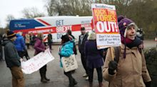 Boris Johnson's Tory Campaign Bus Mobbed By Protestors