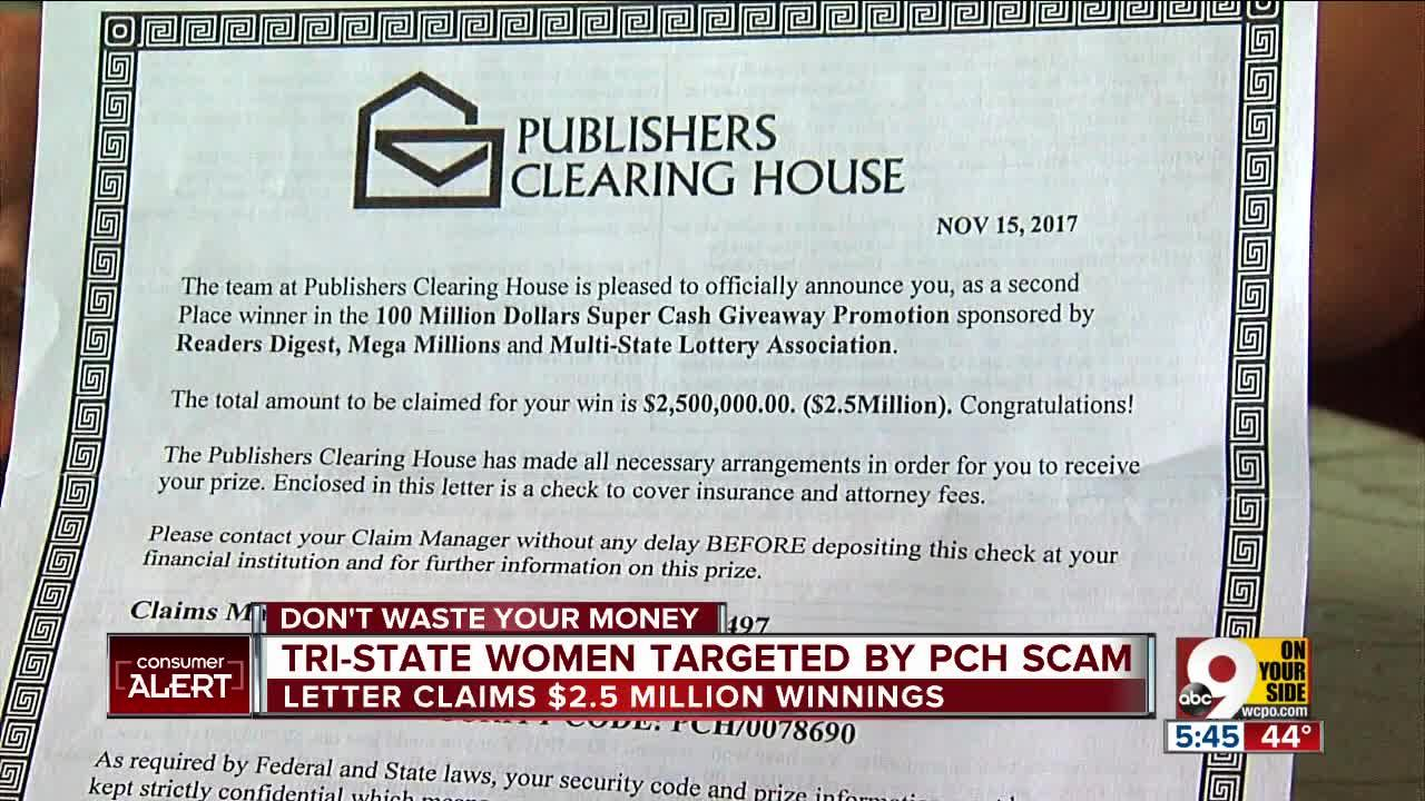 Publisher Clearing House Scams
