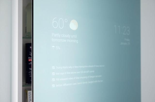 Google staffer makes his own smart bathroom mirror