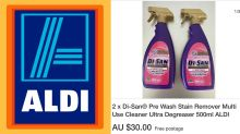 $1.25 Aldi bargain cleaning buy touted for 'crazy' price on eBay