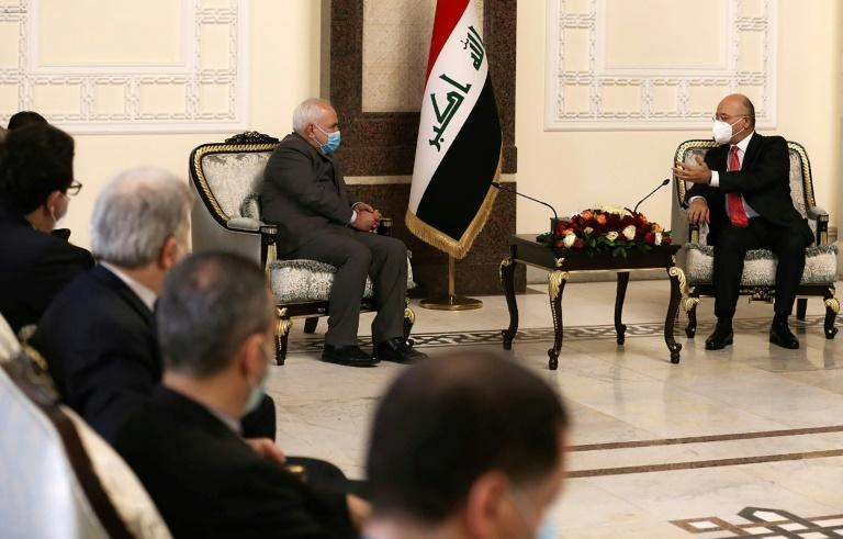 The attack came as Iranian Foreign Minister Mohammad Javad Zarif met top Iraqi officials in Baghdad