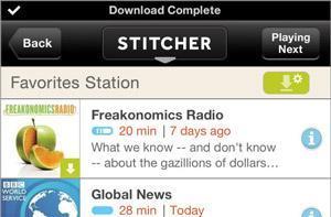 Stitcher updates its iOS app with offline mode for data-free radio
