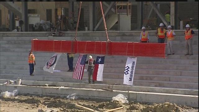 UH stadium reaches construction milestone