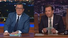 Colbert and Fallon deal with uncomfortable silence as coronavirus keeps audiences at home