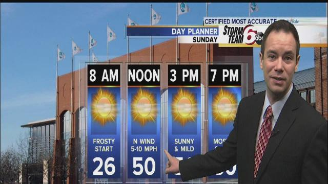 Seasonable temps return Sunday
