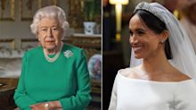 Did the Queen send Meghan Markle a message in her televised address?