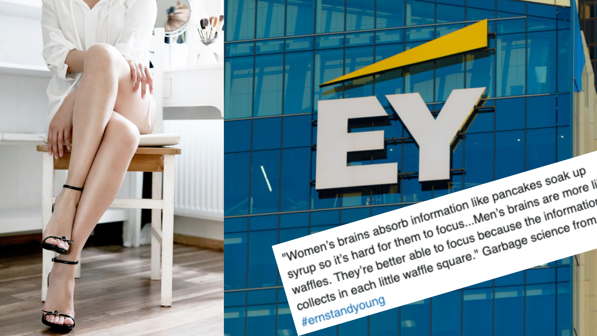 'Incredibly toxic': Women at EY allegedly told to dress to their figure, cross their legs