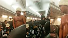 Airplane passenger arrested after emerging from restroom wet and shirtless
