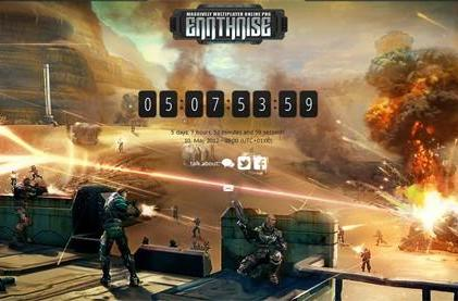 Earthrise website jumps to life with new countdown timer