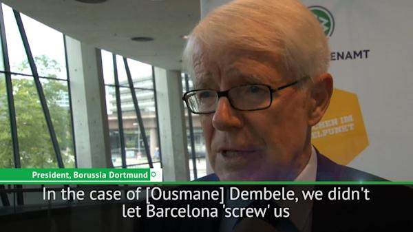 0177b043c08 Barca did not 'screw us' in Dembele transfer - Dortmund president Rauball
