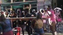 Police probe BLM protesters who confronted Pittsburgh diners as Trump brands them 'thugs'