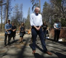 Sanders touts $16 trillion climate plan in fire-ravaged town