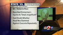 George Zimmerman's injuries not consistent with story, medical examiner says