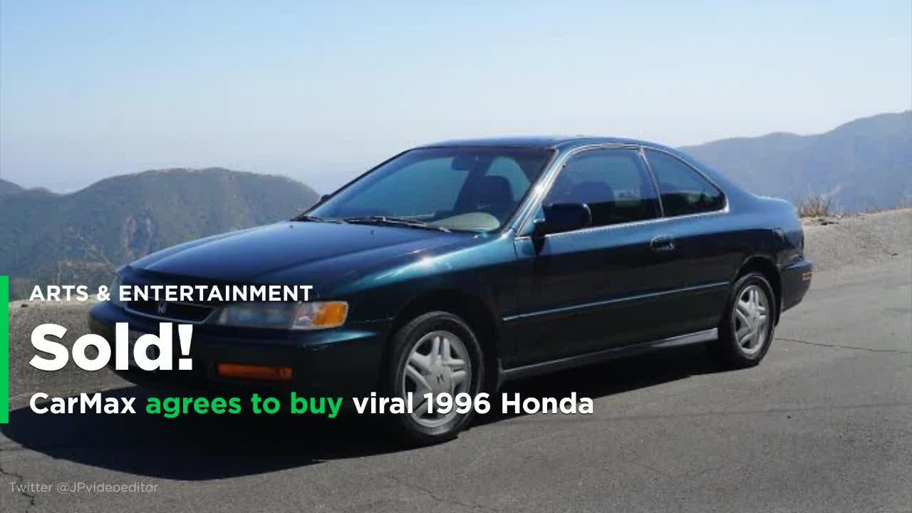 carmax makes good on offer buys viral 1996 honda for 20k video. Black Bedroom Furniture Sets. Home Design Ideas
