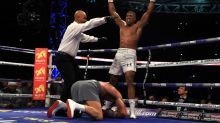 Anthony Joshua defeats Wladimir Klitschko to win IBF, WBA and IBO world heavyweight titles