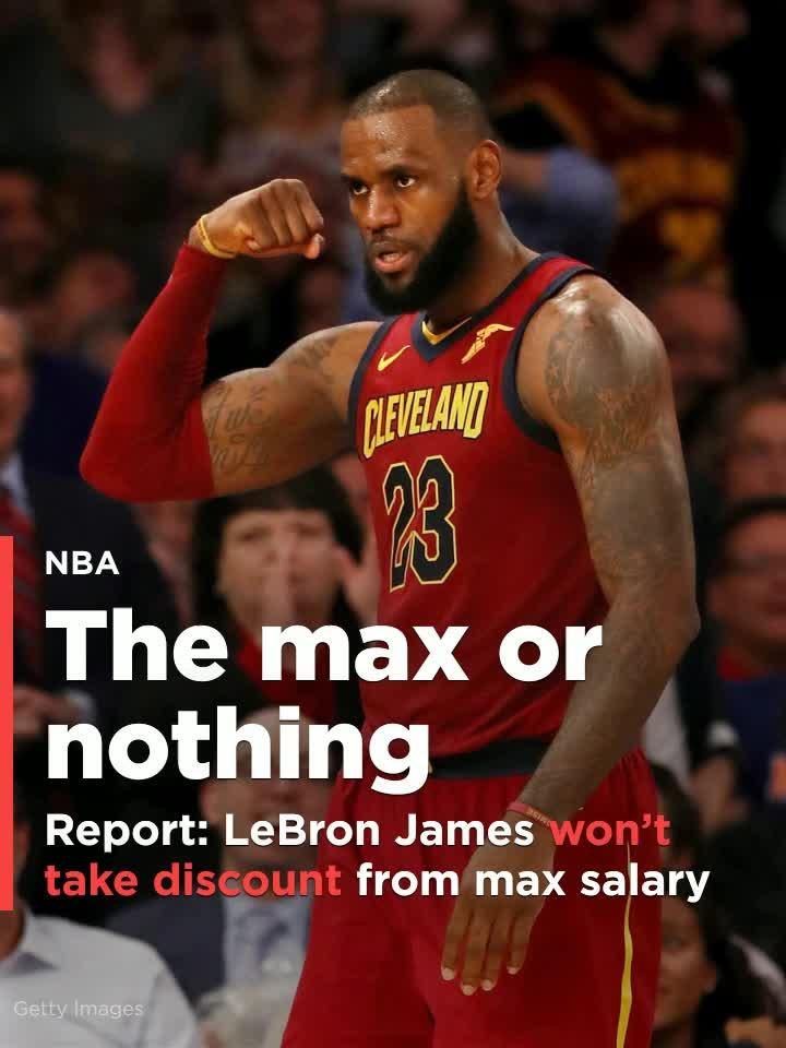 Report Lebron James Won T Take Discount From Max Salary