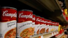 UPDATE 2-Late Thanksgiving cools Campbell soup sales as grocers delay shipments