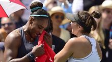 Bianca Andreescu consoles Serena Williams after Rogers Cup final