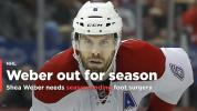 Canadiens' Shea Weber out for season, needs foot surgery