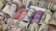 Meagre gains for dollar before central bank speeches