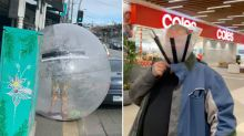 The strange things people are using instead of masks in Melbourne