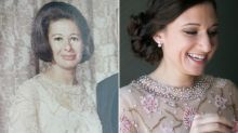 Bride Wears Late Grandma's Dress To Her Wedding, And It Fits To A T