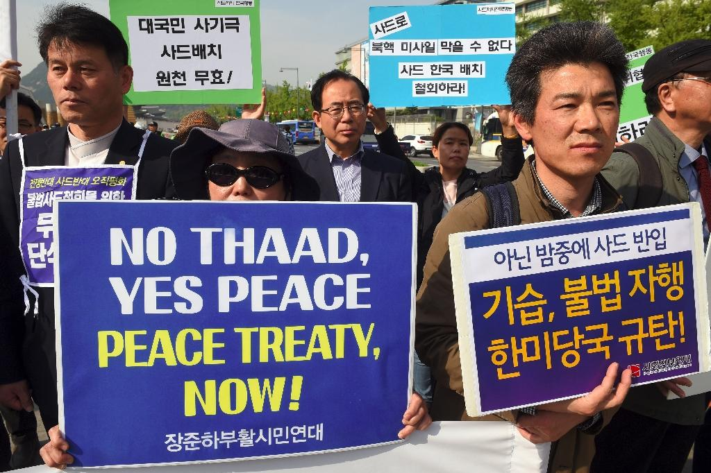 US deployment of the THAAD anti-missile system in South Korea has angered China and sparked protests in Seoul