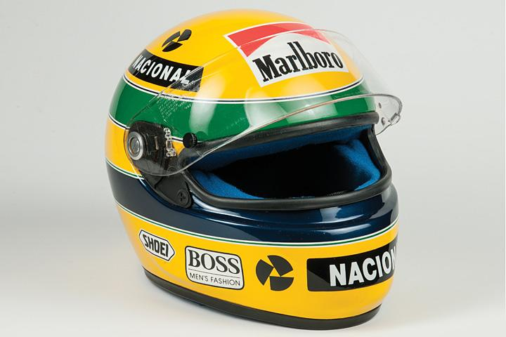 this 1993 ayrton senna f1 racing helmet is up for auction. Black Bedroom Furniture Sets. Home Design Ideas